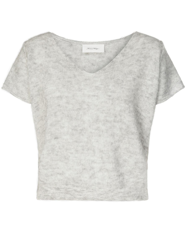 American Vintage, Strickshirt, Strick, Shirt, Spring-Summer Collection 2019, Top, Grey, Lodenfrey, Munich