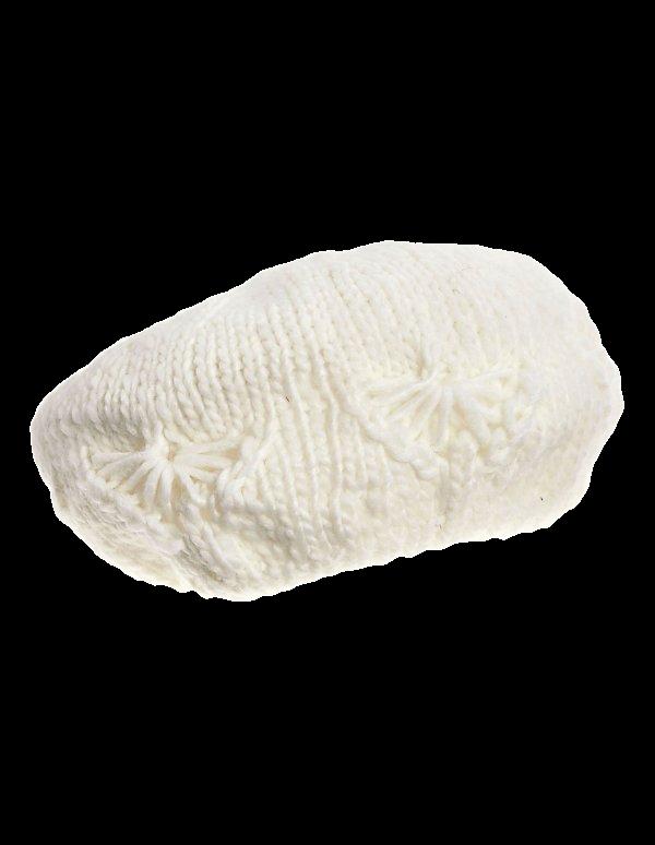 Baskenmütze mit Zopfmuster