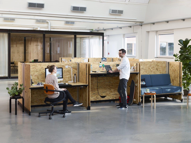 Bureau avec meubles Vitra