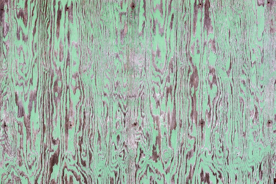 Green Painted Wooden Wall