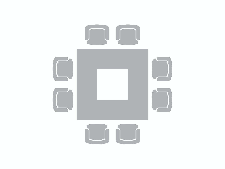 Block- oder Carré-Bestuhlung