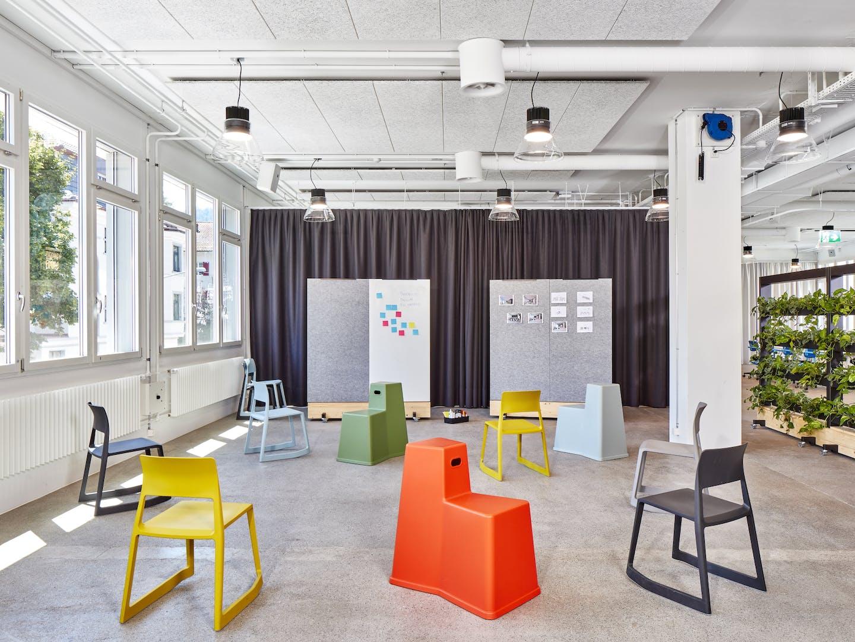 Flexible Raumnutzung im Club Office: Brainstorming