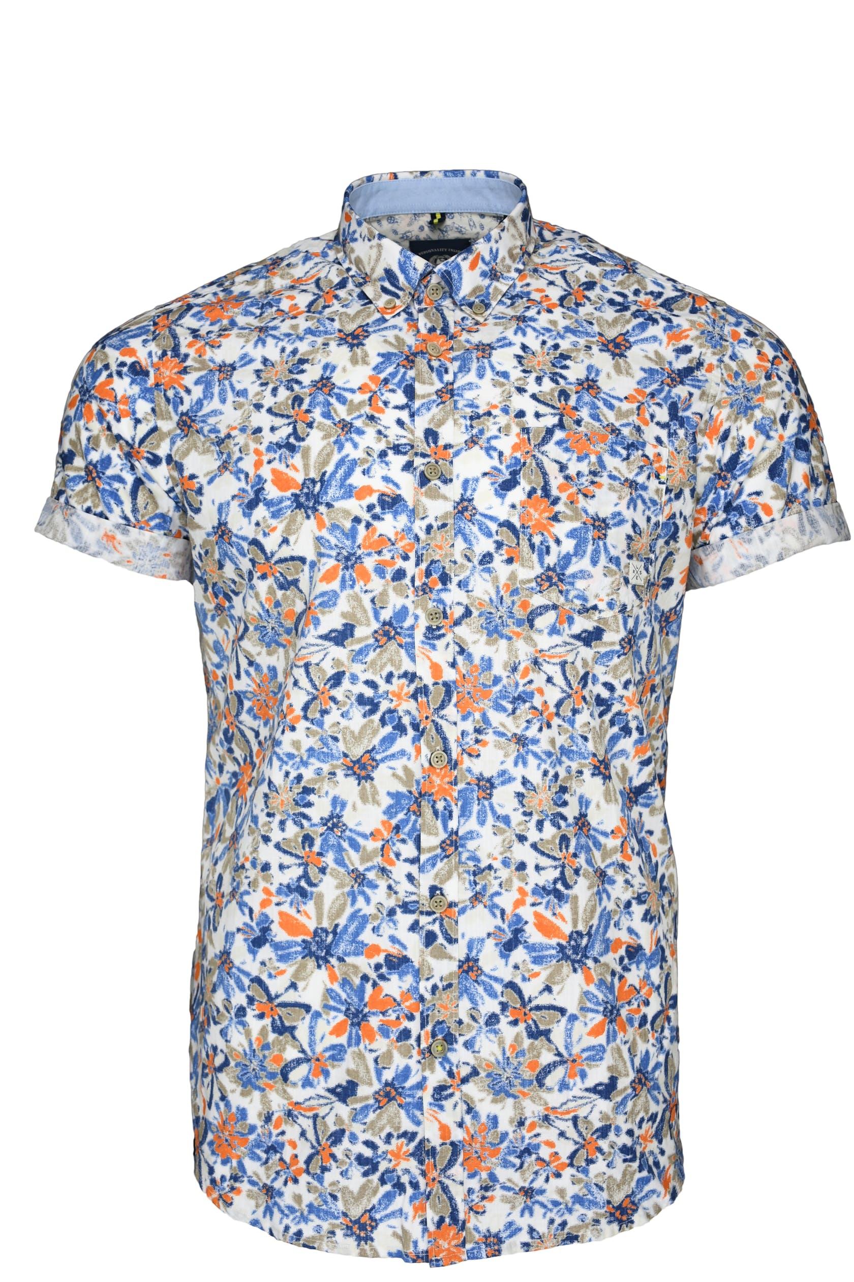 Kurzarmhemd mit buntem Blumenprint für Herren von Lerros