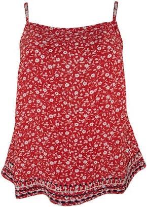 rotes Top mit weißen Blumen von Tommy Jeans