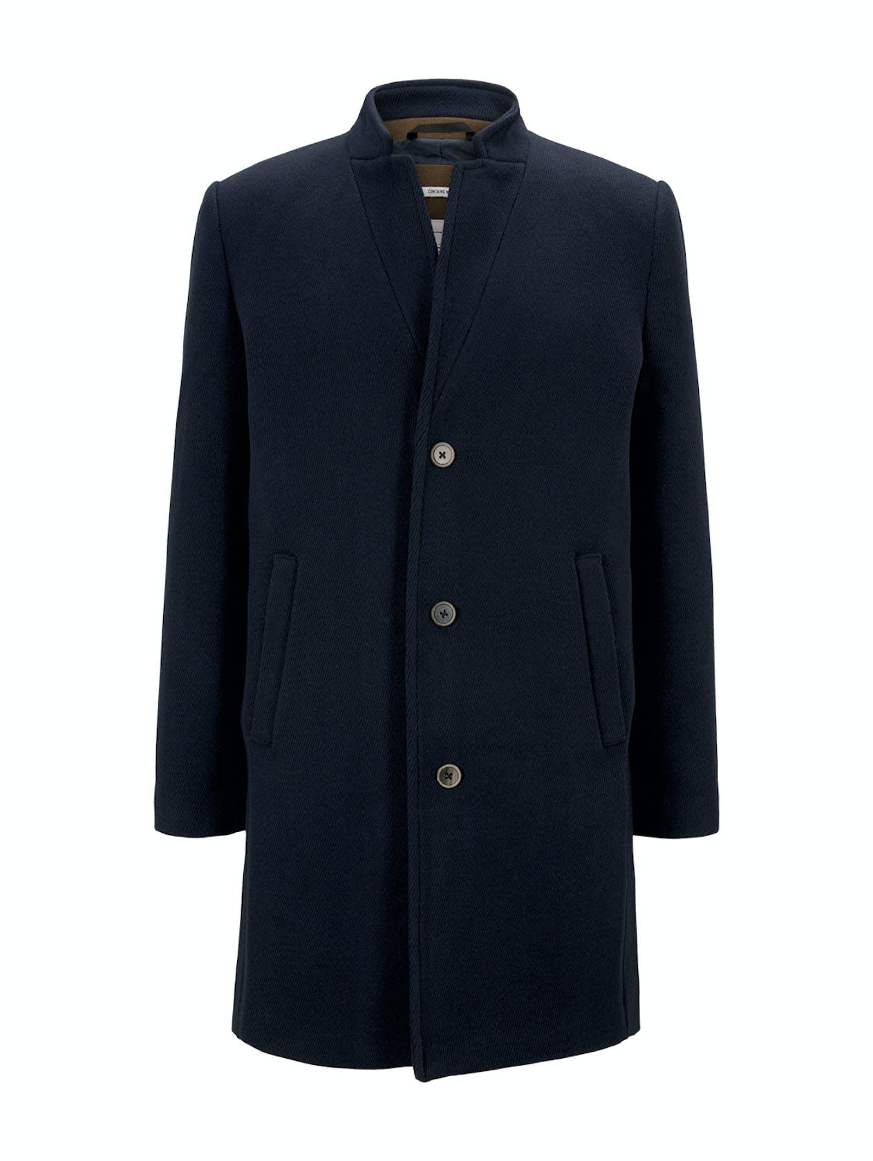 dunkelblauer Wollmantel von Tom Tailor Denim für Herren