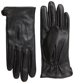 schwarze Lederhandschuhe