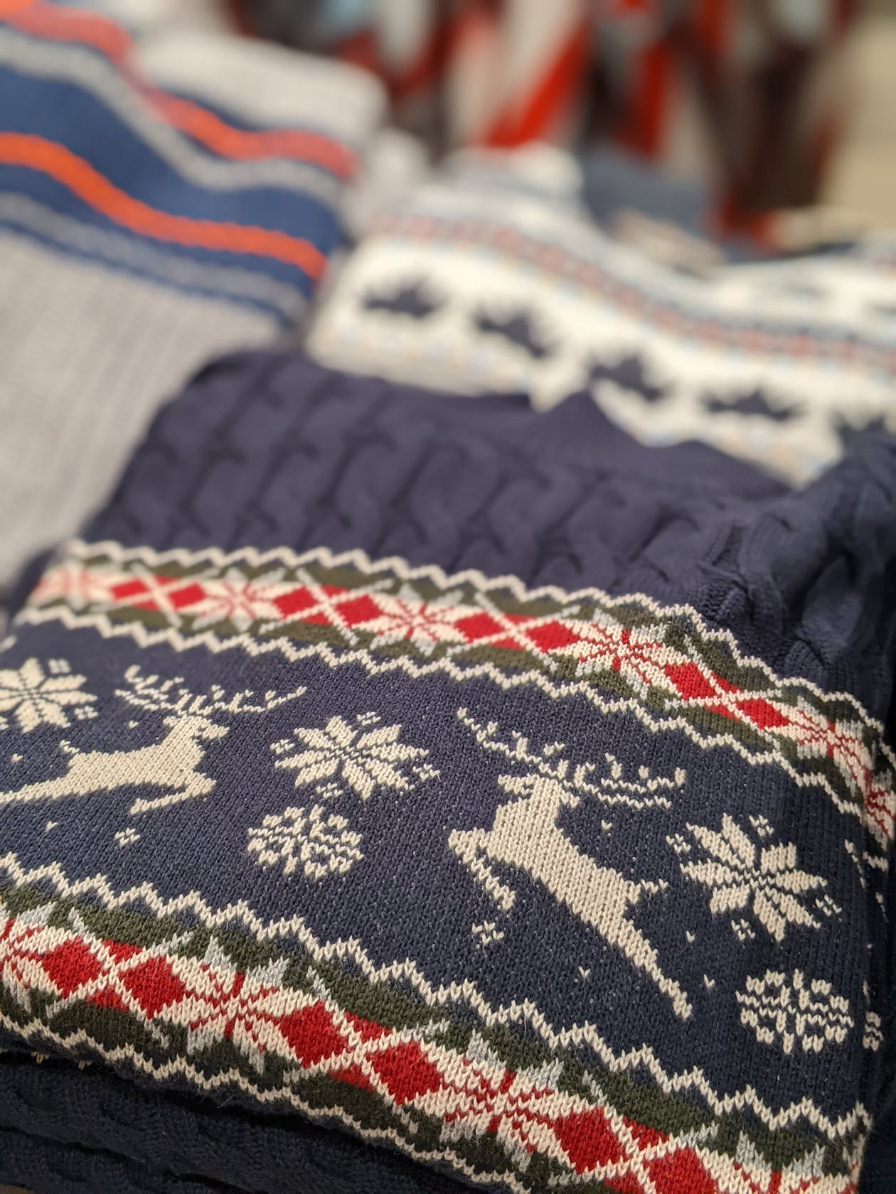 weihnachtlicher Norwegerpullover für Herren