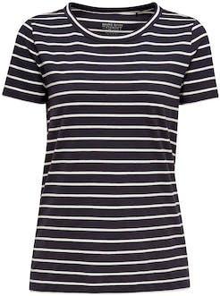 blau-weiß gestreiftes T-Shirt von Esprit