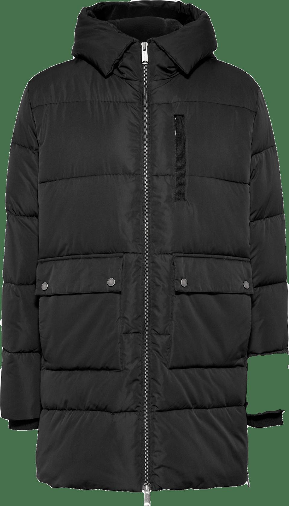 lange Winterjacke in schwarz von Tommy Jeans für Damen