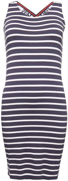 blau und weiß gestreiftes Kleid von Tommy Jeans