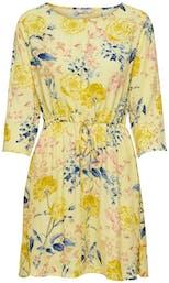 Kleid mit Blumenmotiv in gelb