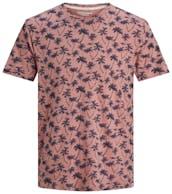 lachsfarbenes T-Shirt mit Palmenaufdruck von Jack&Jones