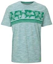 grünes T-Shirt mit Blumenmuster von Tom Tailor