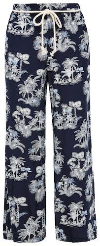 blaue Hose mit weißem Blumenmuster von s. Oliver