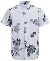Kurzarm-Hemd von Jack&Jones mit Streifen und Blumenaufdruck