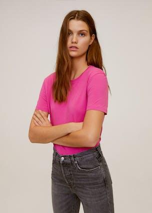 Pinkes T-Shirt von MANGO