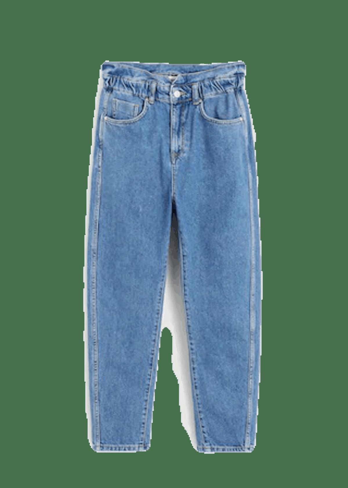 hellblaue Balloon-Jeans von Mango für Damen