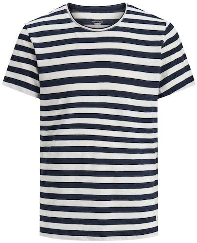 blau-weiß-gestreiftes T-Shirt