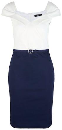 Kleid in blau und weiß von Comma