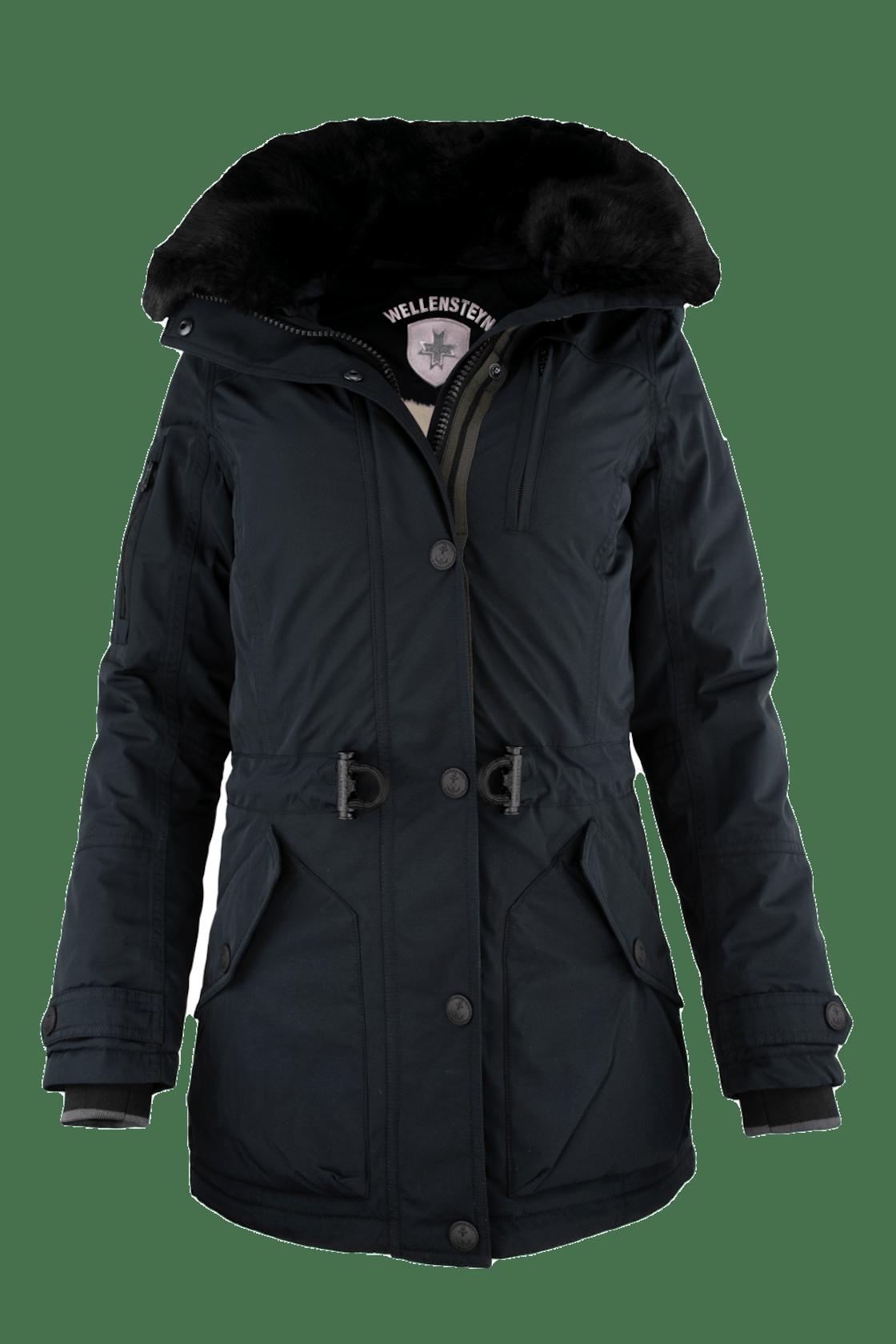 lange Winterjacke in schwarz von Wellensteyn für Damen