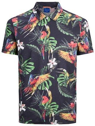 Kurzarm-Hemd mit Tropenprint von Jack&Jones
