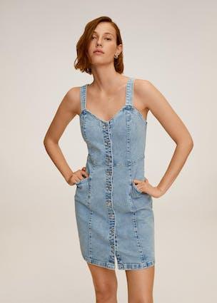 Jeanskleid mit schmalen Trägern von MANGO