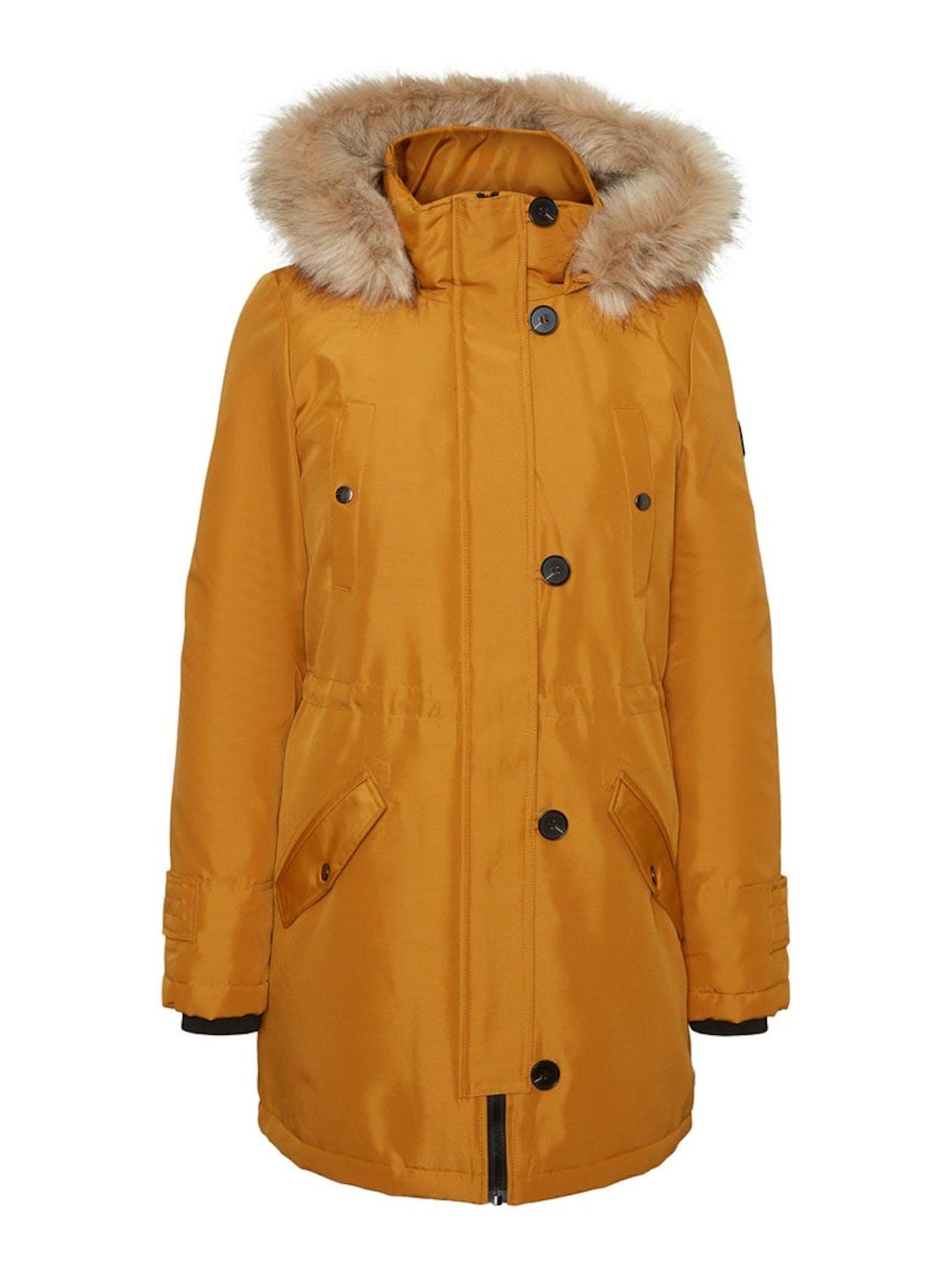 lange Winterjacke in gelb von Vero Moda für Damen