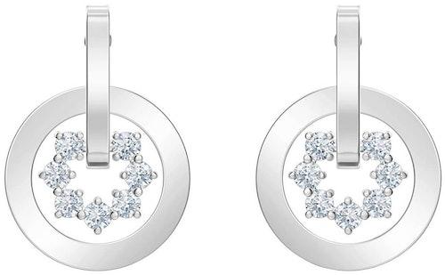 Ce Boucles d'oreilles SWAROVSKI sont en Métal et Cristal Blanc