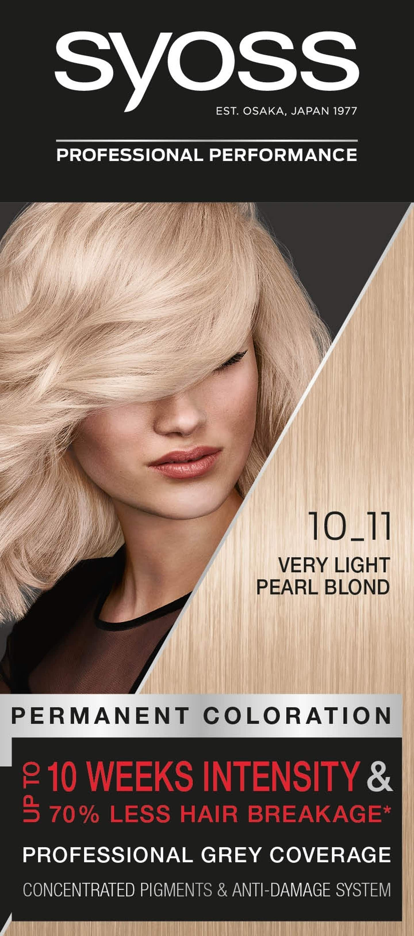 Syoss Permanent Coloration 10_11 Very Light Pearl Blonde