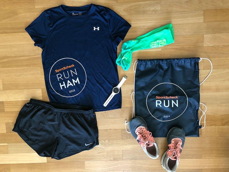 Flatlay Outfit SportScheck Run Hamburg