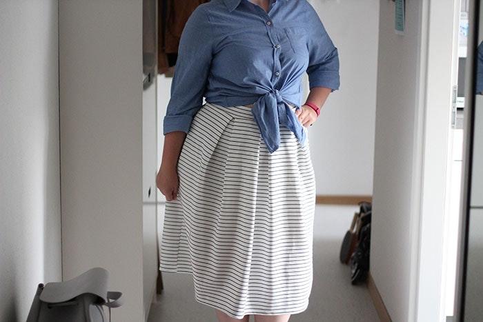 Bluse im Crop Top-Style