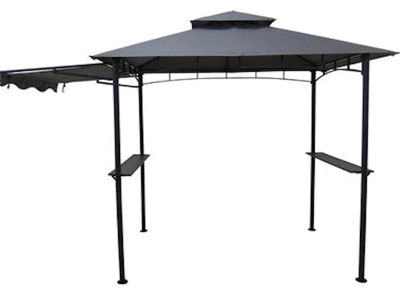 Grillpavillon Kaibito mit Sonnendach 247 cm x 245 cm x 150 cm
