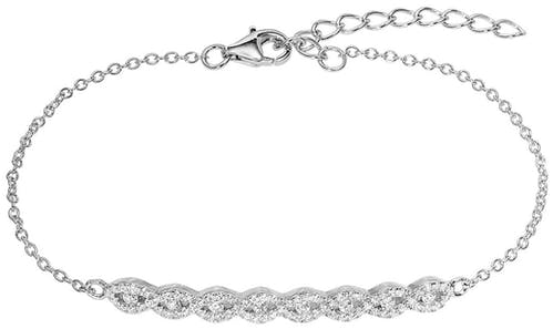 Ce Bracelet CLEOR est en Argent 925/1000 et Oxyde Blanc