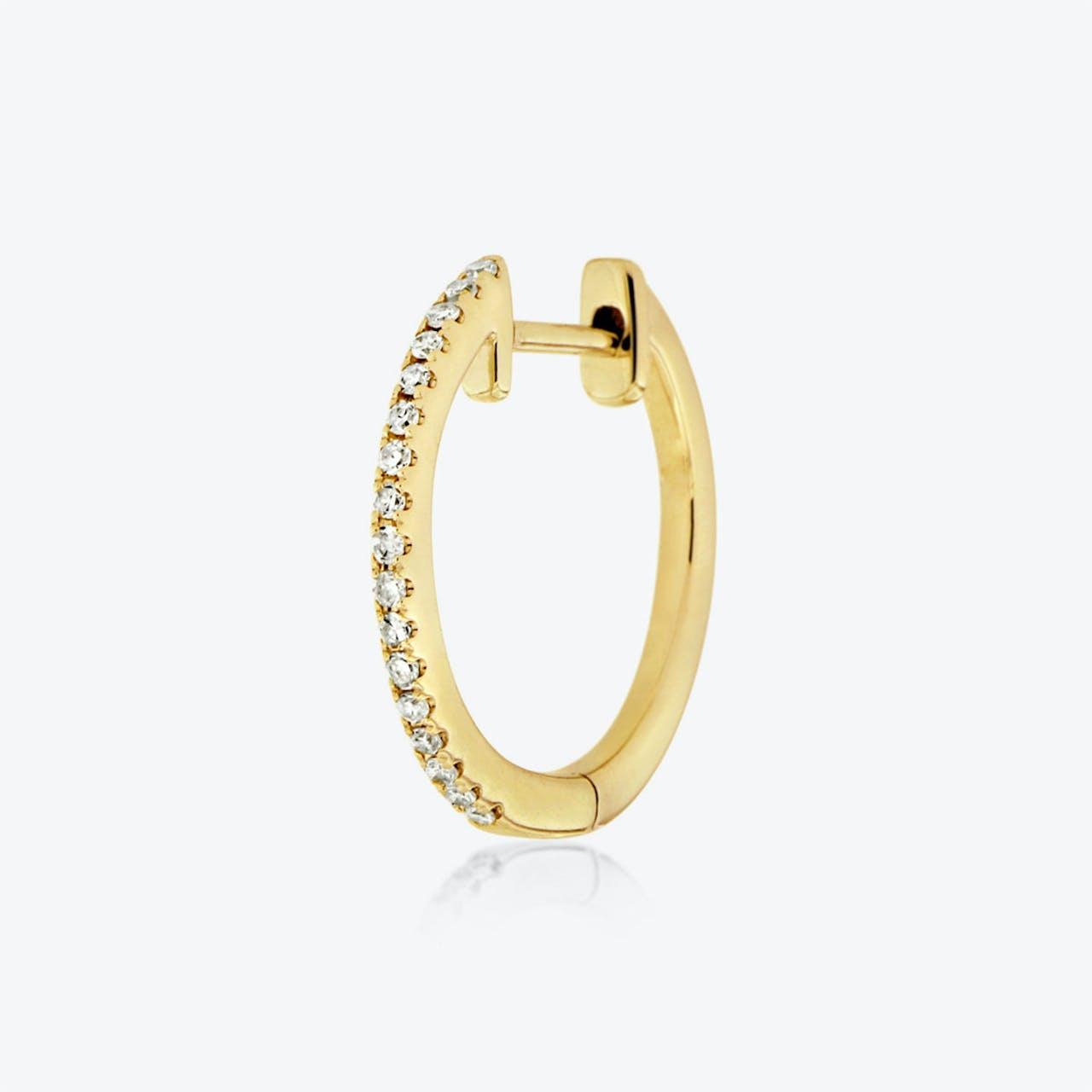 huggie 003 - Single-Ohrringe - Gold