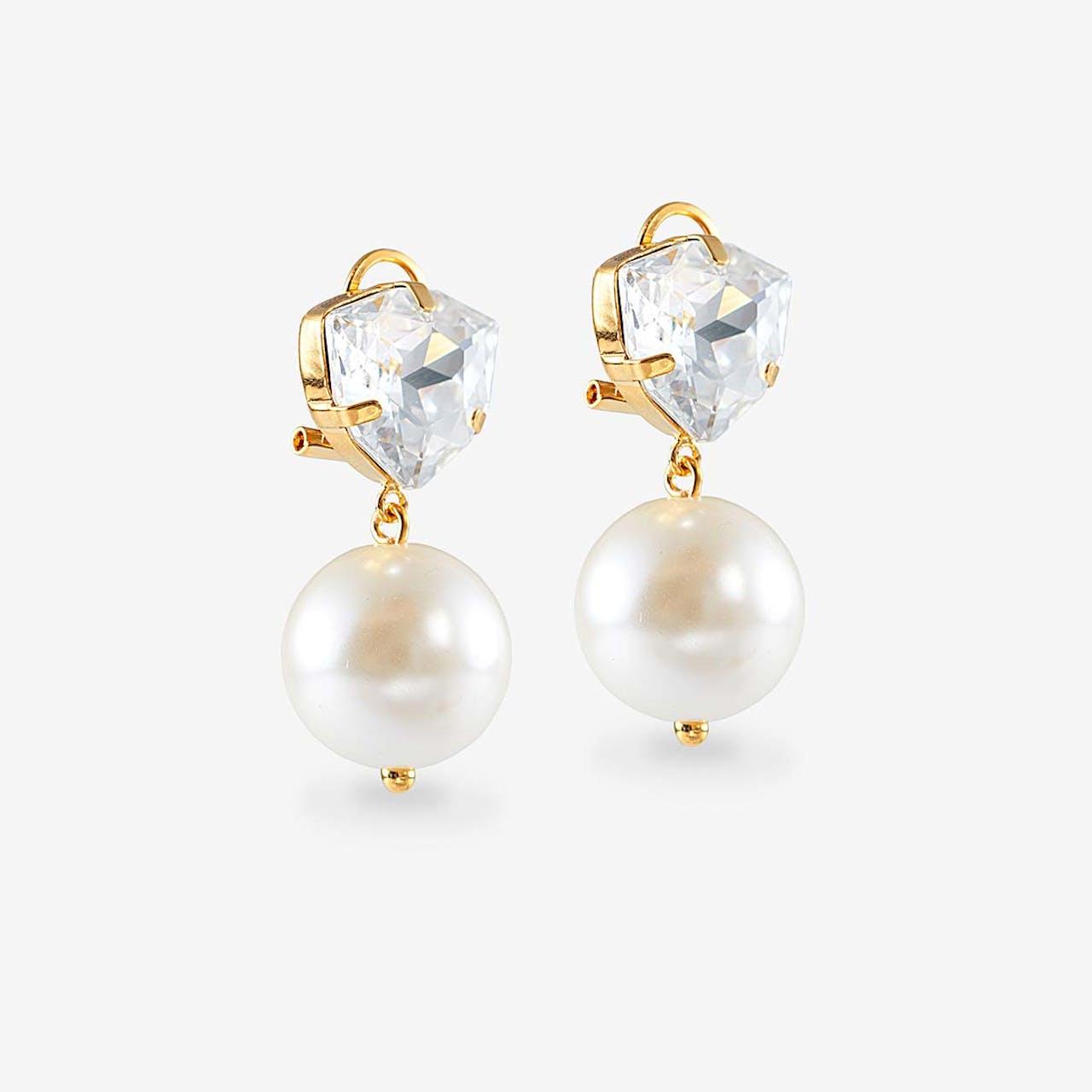 Cascade Pearls Pink - Ohrstecker - Gold