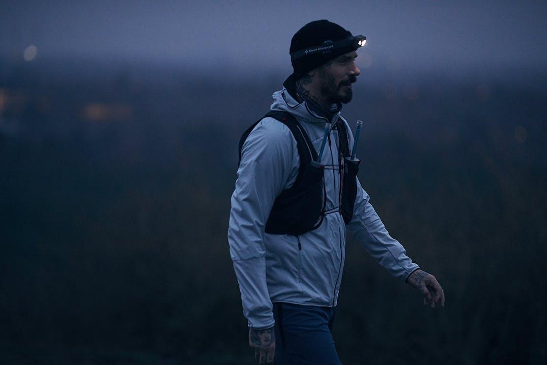 Swen Losinsky beim Laufen im Morgengrauen