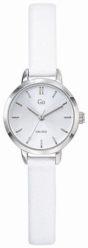 Cette montre GO se compose d'un boîtier Rond de 22 mm et d'un bracelet en Cuir Blanc