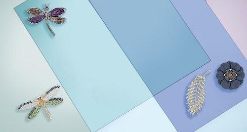 broschen,libelle,glas,blau,blume