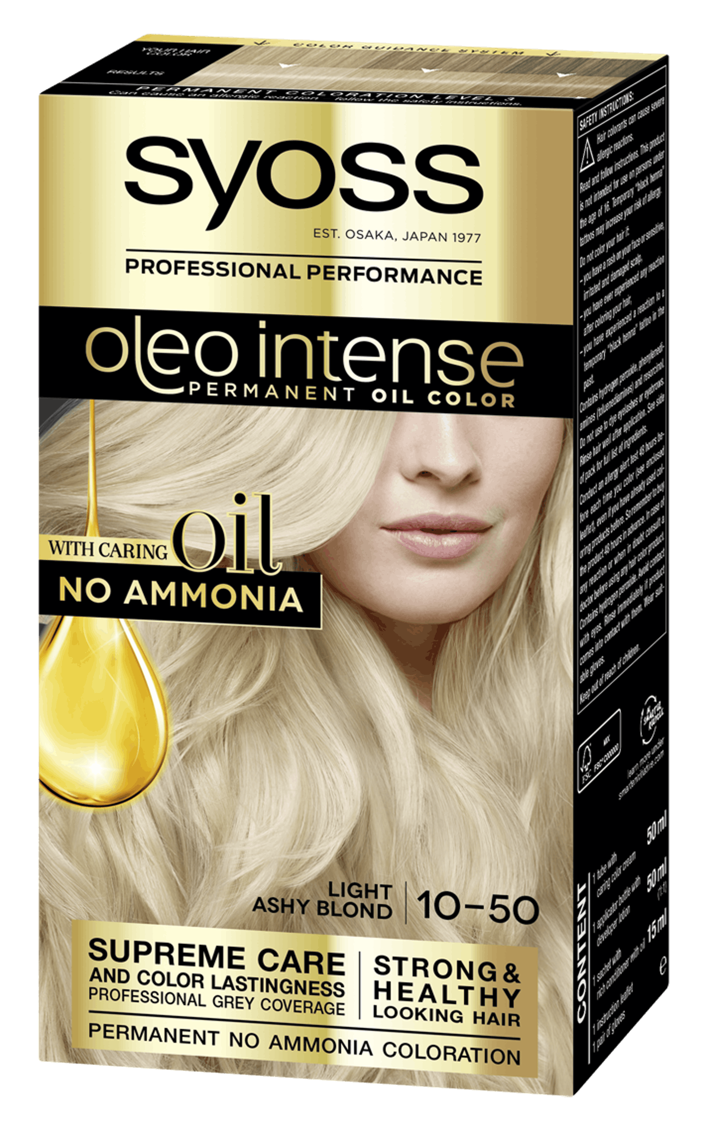 Syoss Oleo Intense Permanent Oil Color 10-50 Light Ashy Blond