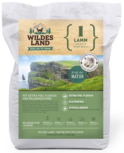 Wildes Land - Trockenfutter - Lamm mit Reis und Wildkräutern 12kg (glutenfrei)