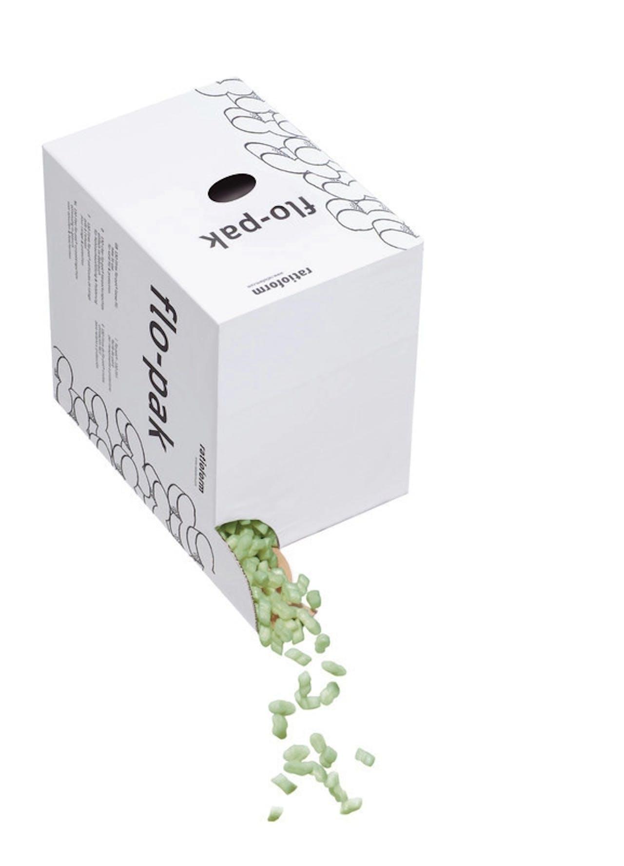 Verpackungschips flo-pak® BIO terra im Spendekarton