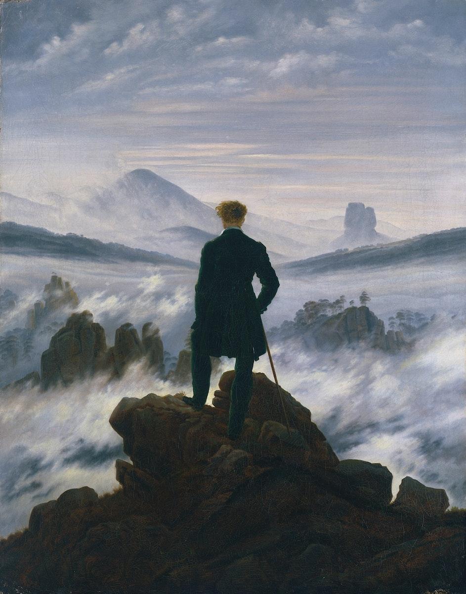 Caspar David Friedrich (1774 – 1840), Wanderer über dem Nebelmeer, um 1817 © SHK/Hamburger Kunsthalle/bpk / Foto: Elke Walford