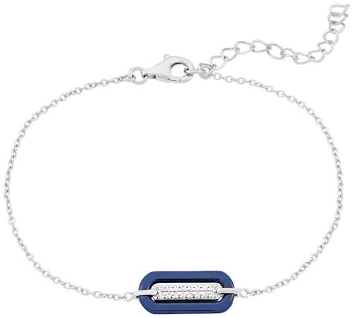 Bracelet BLEUE JOAILLERIE Argent 925/1000 Céramique Bleu