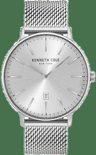 Cette montre KENNETH COLE se compose d'un Boîtier Rond de 41 mm et d'un bracelet en Acier Gris