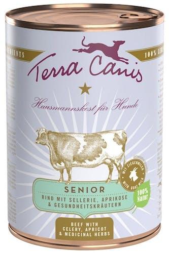 Terra Canis Nassfutter Senior Rind mit Sellerie, Aprikose & Gesundheitskräutern (getreidefrei)
