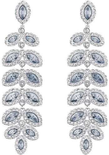 Boucles d'oreilles pendantes SWAROVSKI en Métal et Cristal Blanc