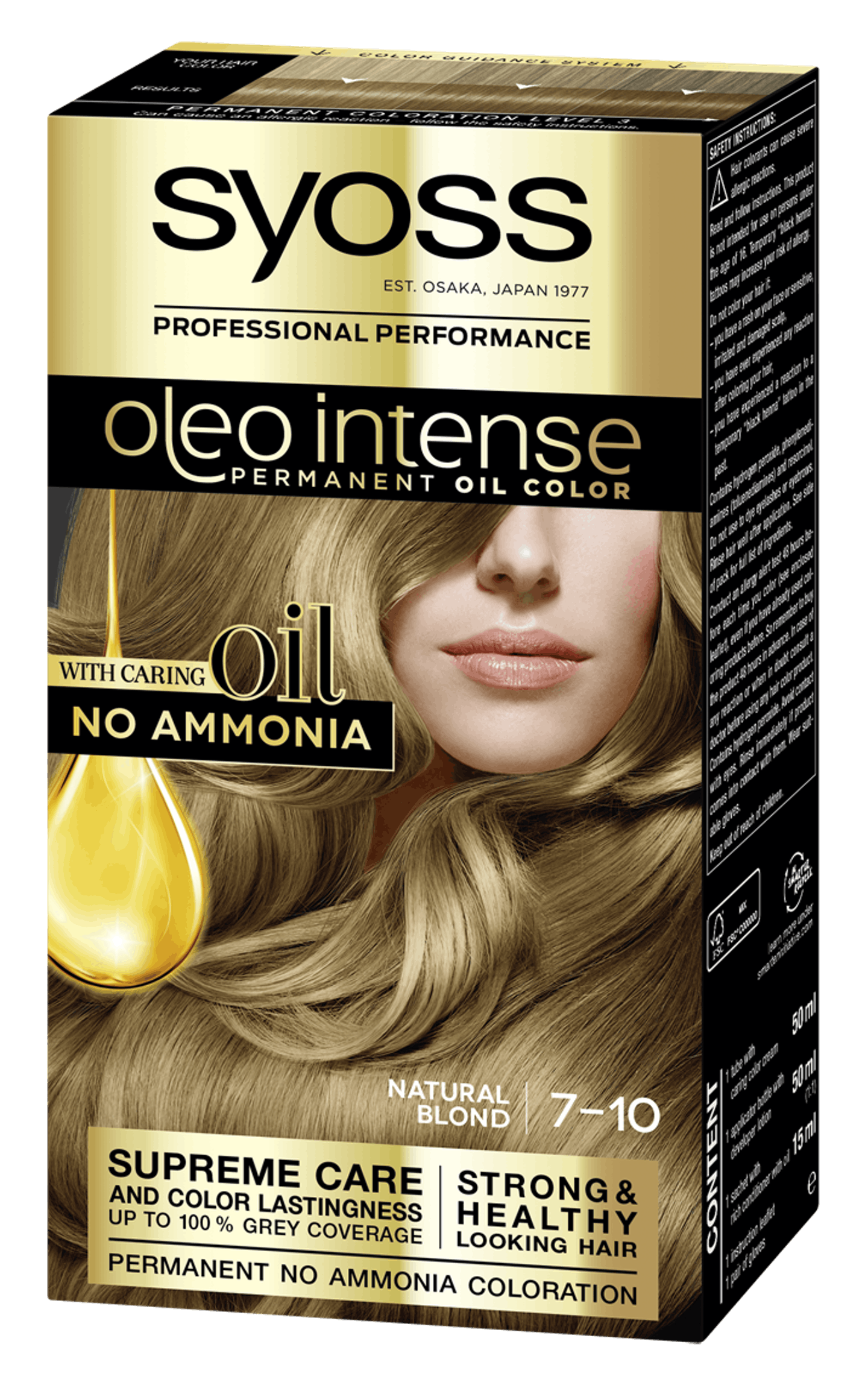Syoss Oleo Intense Permanent Oil Color 7-10 Natural Blond