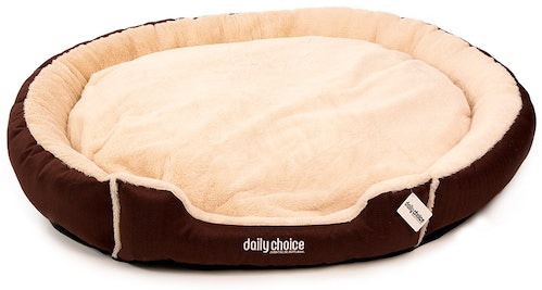 daily choice - Hundebett - Schmuseparadies soft braun