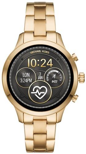 Cette montre MICHAEL KORS ACCESS se compose d'un boîtier Rond de 41 mm et d'un bracelet en Acier Jaune