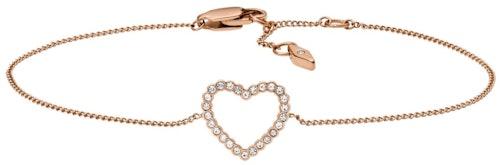 Ce Bracelet FOSSIL est en Acier Rose et Oxyde Blanc